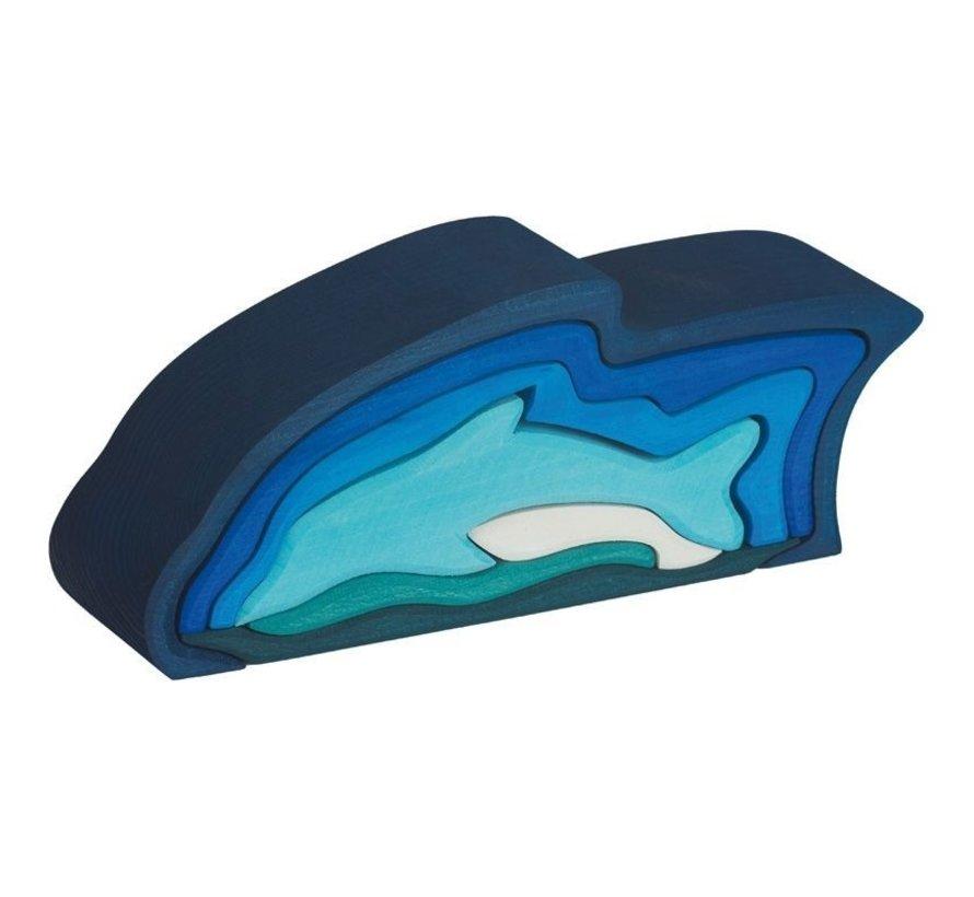 Dolfijn 9-delig Hout