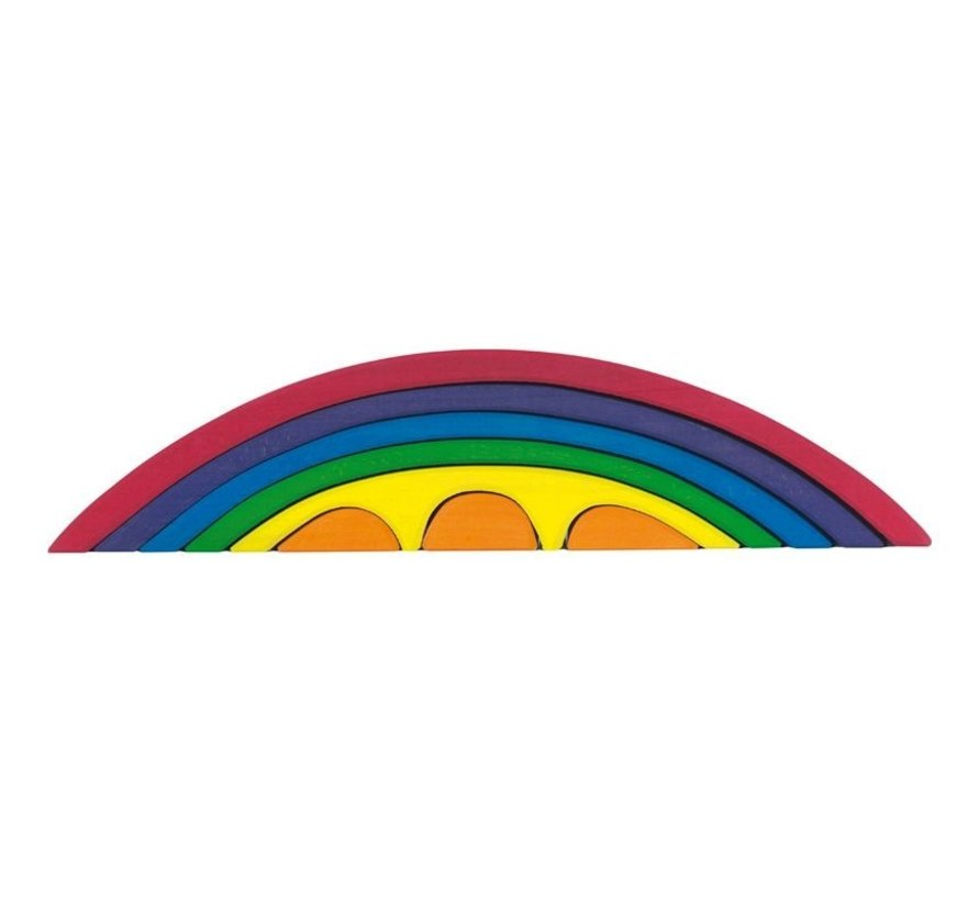 Brug Regenboog Set 8-delig Hout