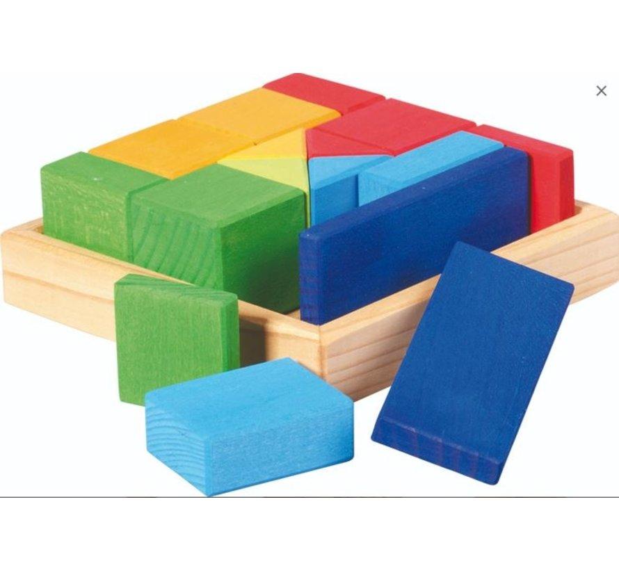 Blokkendoos Vierkant Vormenmix Hout