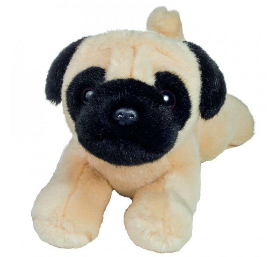 Knuffel Hond Mopshond Liggend