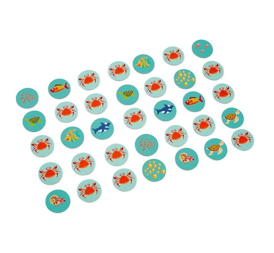 Visspel Memory Domino 3-1 Spel