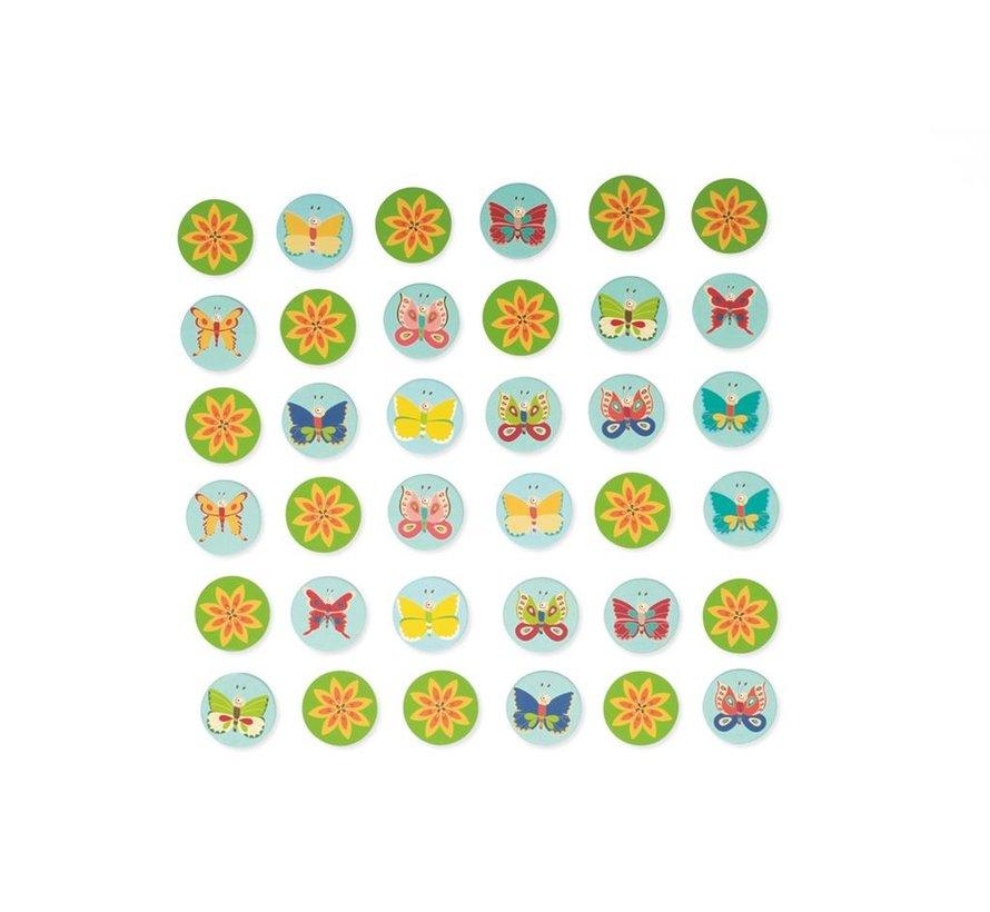 Vlinderspel  Visspel Memory Domino 3-1 Spel