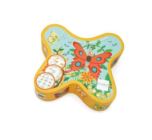 Scratch Vlinderspel  Visspel Memory Domino 3-1 Spel