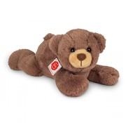 Hermann Teddy Stuffed Animal Teddy Bear Lying Down Chocolate Brown