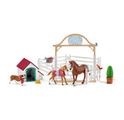 Schleich Horse Club Hannah?s guest horses with Ruby the dog 42458