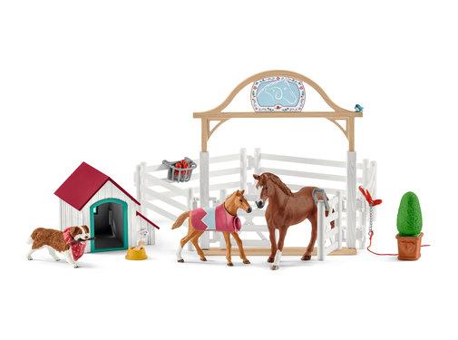 Schleich Speelset Horse Club Hannah Paarden met Hond Ruby 42458