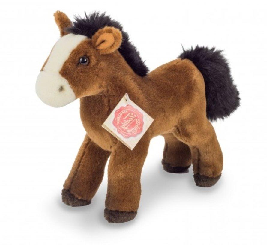 Knuffel Paard met Geluid Roodbruin