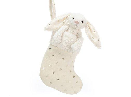 Jellycat Knuffel Konijn Bashful Twinkle Bunny Stocking