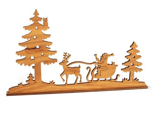 Waldfabrik Kersttafereel Hout Silhouet
