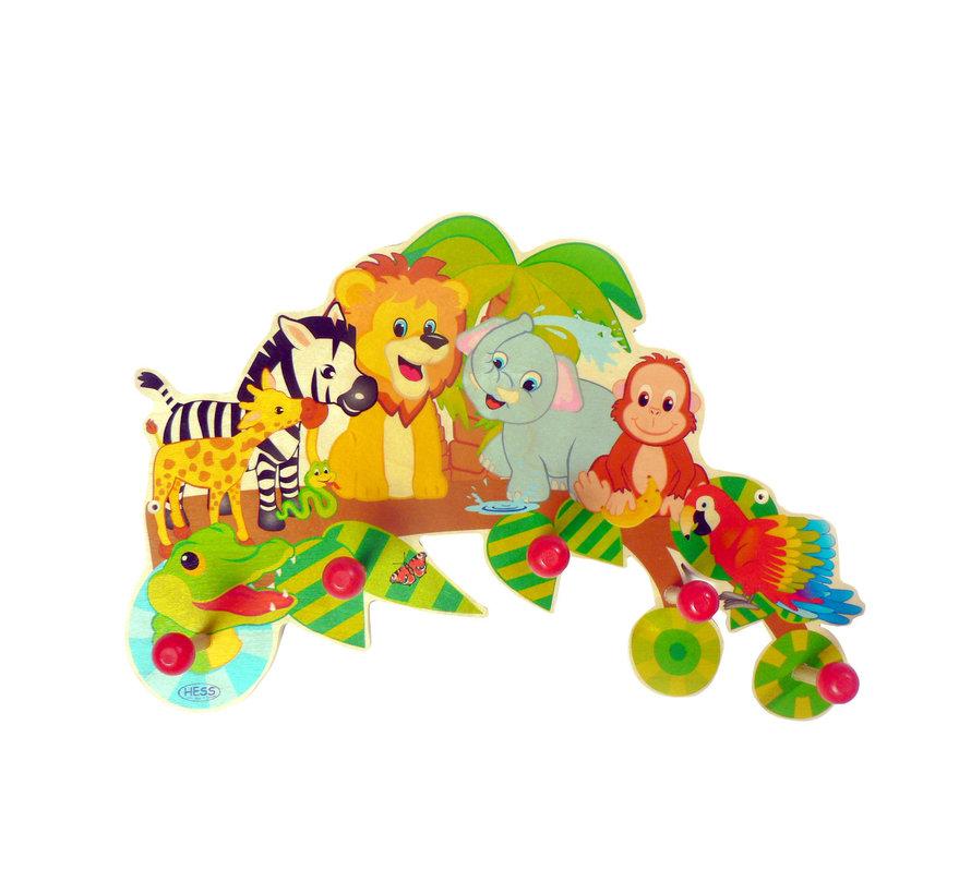 Kapstok Kinderkapstok Jungle Hout