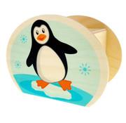 Hess Spaarpot Pinguïn Hout