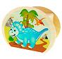 Spaarpot Dino Hout