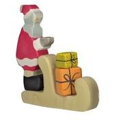 Holztiger Kerstman met Arreslee en Cadeautjes