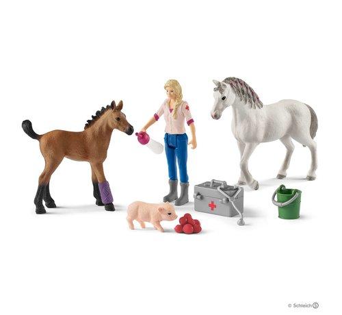 Schleich Speelset Dierenarts op Bezoek bij de Paarden