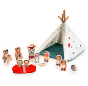Lilliputiens The wigwam and the indians