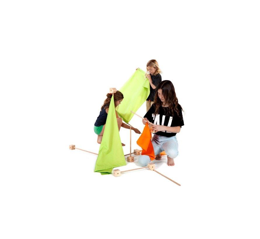 Speelhuis Maxi PCG Oranje 150 delig
