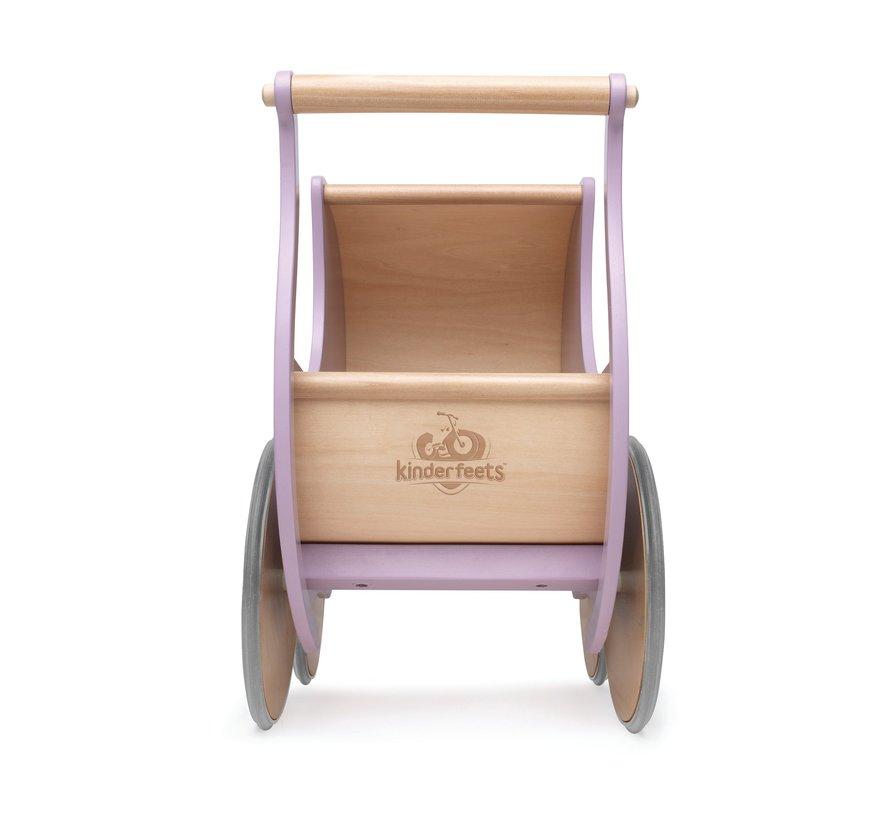 Poppenwagen Lila Hout