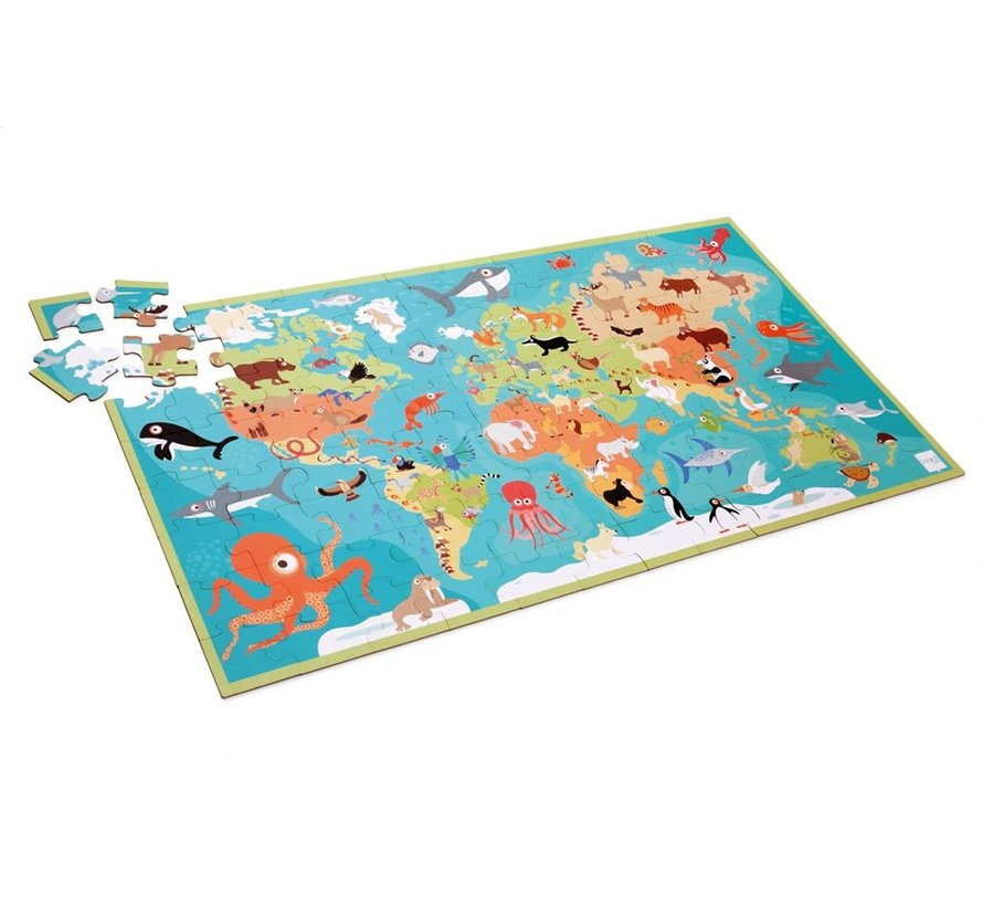 Puzzle Animals of the World