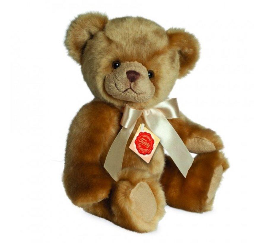 Knuffel Teddybeer Zittend met Geluid 25 cm