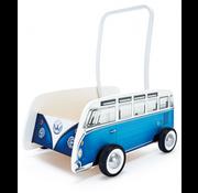 Hape Loopwagen Classic VW T1 Blauw