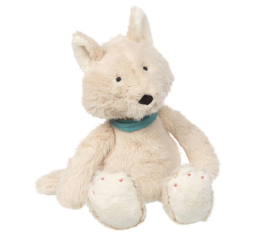 Soft white plush fox