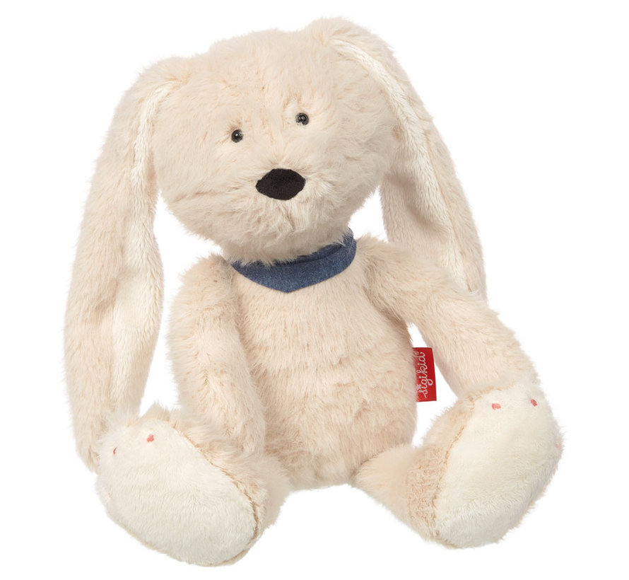 Soft white plush bunny