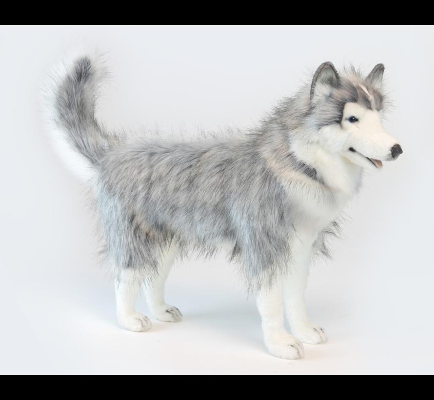 Cuddly Animal Husky Gray Standing