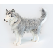 Hansa Cuddly Animal Husky Gray Standing