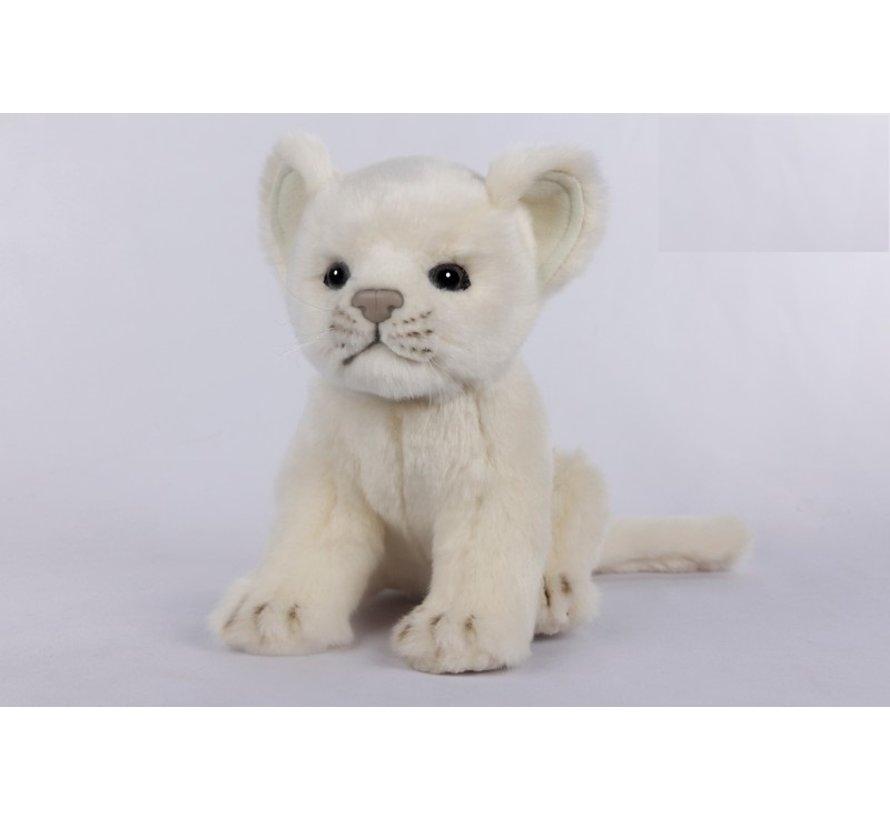 Knuffel Pluche Leeuw Welp Wit
