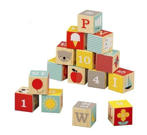 Petit Collage Blokken Alfabet ABC Hout