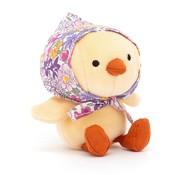 Jellycat Knuffel Kuiken Betty Bonnet Yellow Chick
