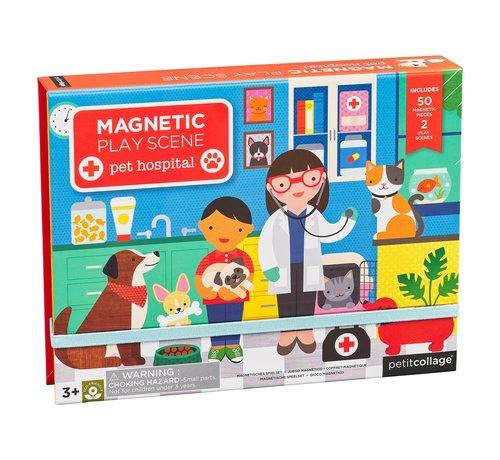 Petit Collage Magneetspel bij de Dierenarts