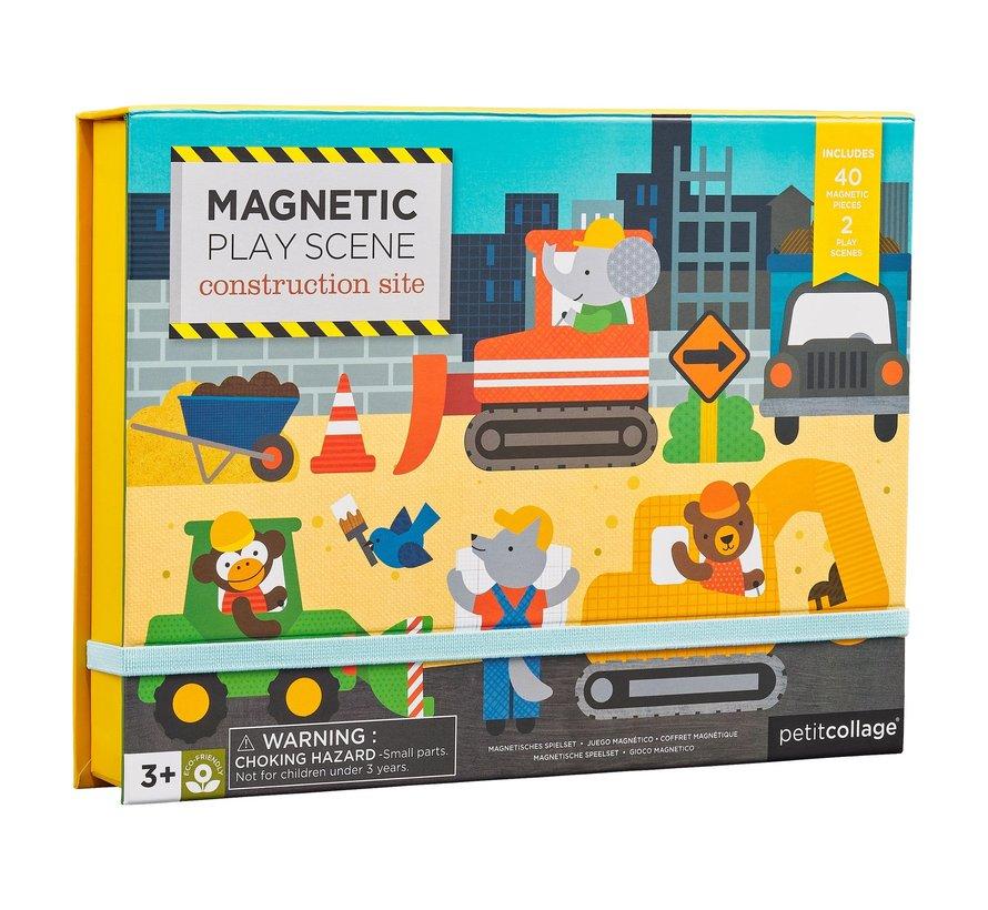 Magneetspel op de Bouwplaats
