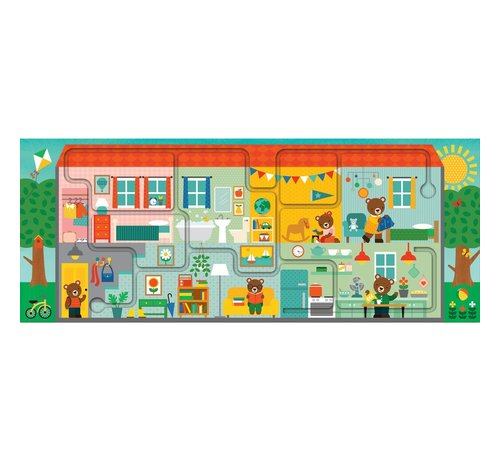 Petit Collage Puzzel Huis