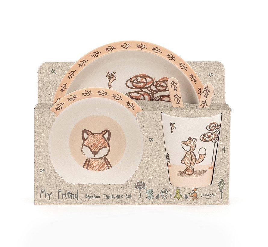 Servies My Friend Fox Bamboo Set