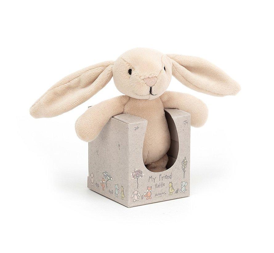 Knuffel Konijn My Friend Bunny Rattle