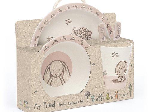 Jellycat Servies My Friend Bunny Bamboo Set