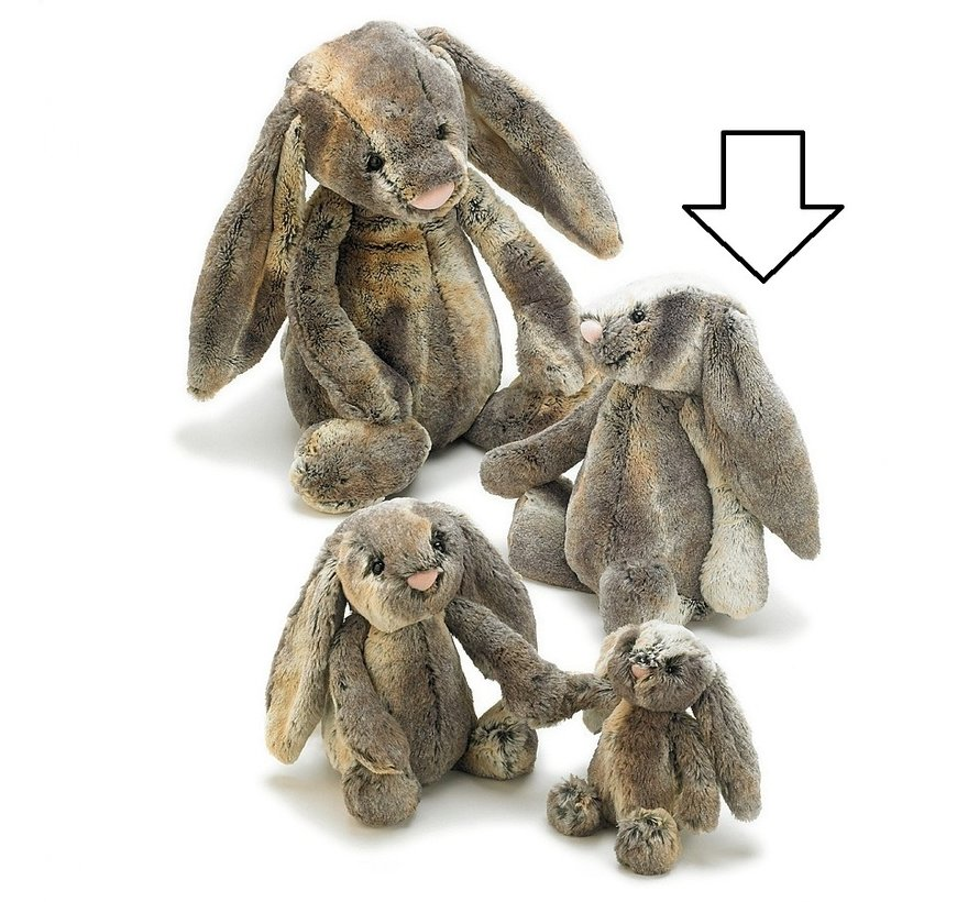 Knuffel Konijn Bashful Cottontail Bunny Medium