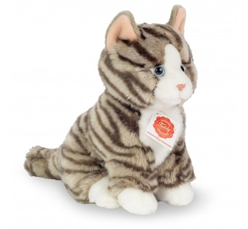 Hermann Teddy Stuffed Animal Grey Tiger Cat