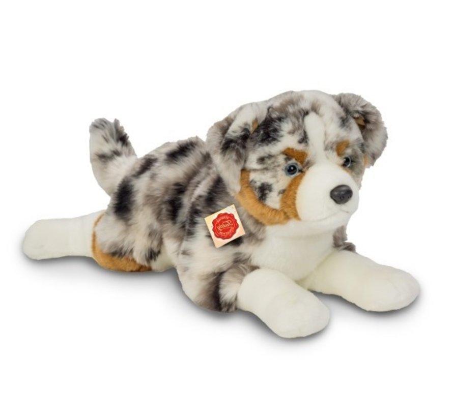 Knuffel Hond Australian Shepherd Liggend