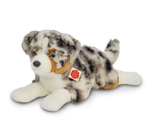 Hermann Teddy Knuffel Hond Australian Shepherd Liggend
