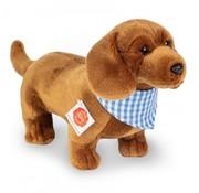 Hermann Teddy Knuffel Hond Teckel Staand