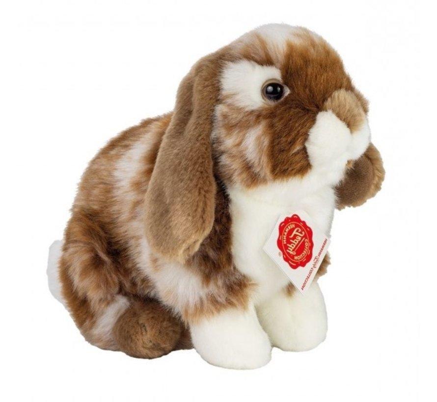 Stuffed Animal Hare Sitting Dark Brown