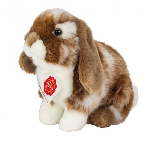 Hermann Teddy Stuffed Animal Hare Sitting Dark Brown