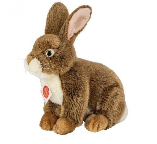Hermann Teddy Stuffed Animal Hare Sitting Dark Brown 25 cm