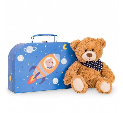 Hermann Teddy Stuffed Animal Teddy Ferdi in Suitcase
