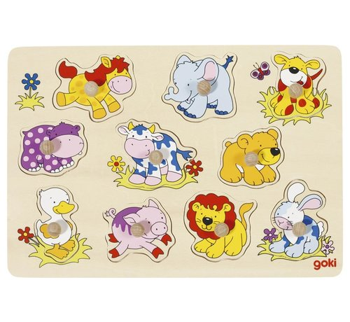 GOKI Puzzel Babydieren Hout