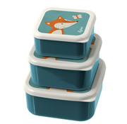 sigikid Lunchbox Snackbox Vos 3-delig