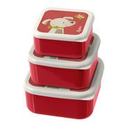 sigikid Lunchbox Snackbox Hond 3-delig