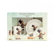 Jellycat Servies Set Bashful Monkey Kom, Kopje en Bord